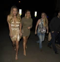 sam faiers shows off her cleavage in daring metallic