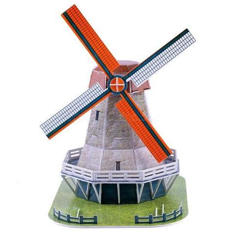 paper windmill craft magic puzzle windmill building model diy paper