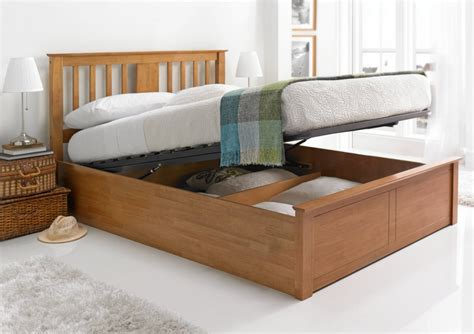 storage beds for malmo oak finish wooden ottoman storage bed wooden beds