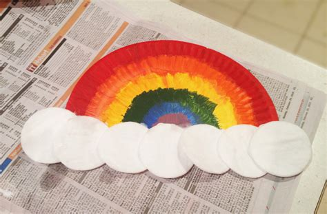 how to make craft with paper plates paper plates rainbows craft rainbow themed