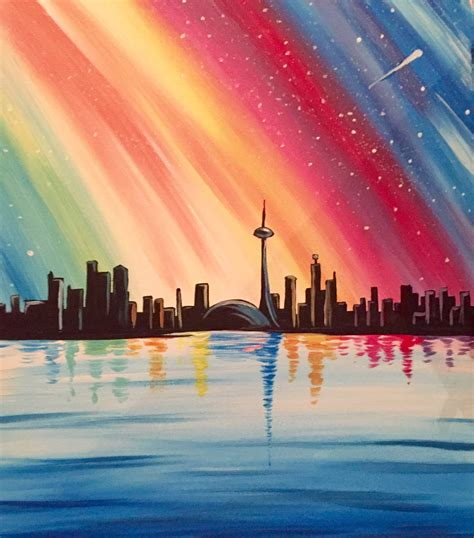 paint nite in toronto learn to paint colourful toronto