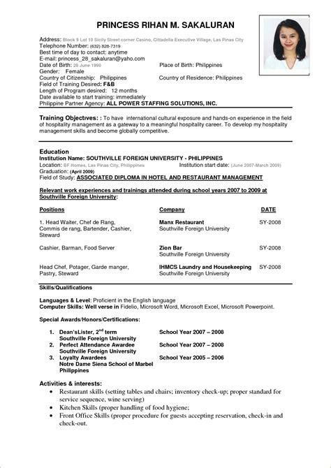 Free Sample Resume Cover Letters examples of resumes cv format for be how to write a or