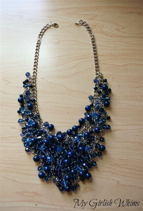 how to make beaded jewelry necklace diy bead cluster web necklace my girlish whims