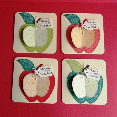 thank you crafts for thank you apple cards craft ideas