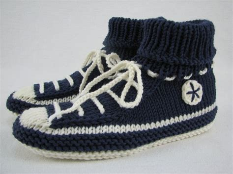 knitted sneakers pattern knit house shoes slippers sneaker style