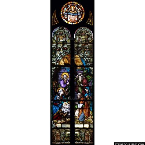 quot no crib for a bed quot religious stained glass window