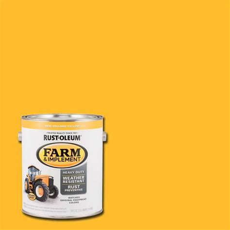 home depot yellow paint suit rust oleum 1 gal farm and implement new yellow
