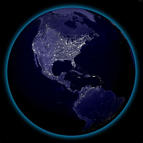 view lights earth lights from space high resolution view