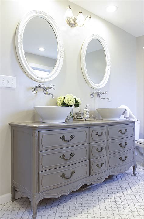dresser for bathroom vanity how to convert a dresser into a bathroom vanity curbly diy