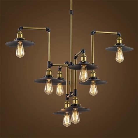 style chandelier lighting industrial style 8 light large pendant chandelier