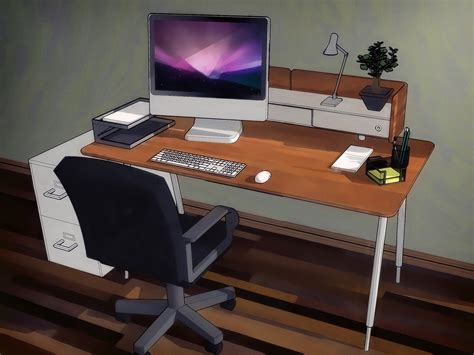how to make an office desk how to organize your desk 13 steps with pictures wikihow