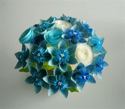 how to make an origami bouquet blue sky beautiful paper flower bouquet can make wedding