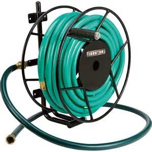 ironton wall mount garden hose reel holds 5 8in x 100ft