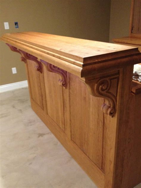 kitchen island corbels cherry corbels a accent for bar project osborne wood