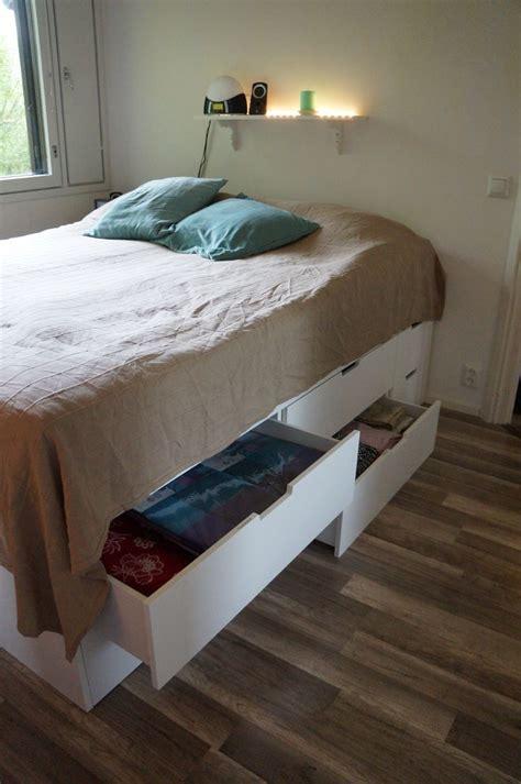 ikea nordli bed hack 1000 ideas about ikea storage bed on single