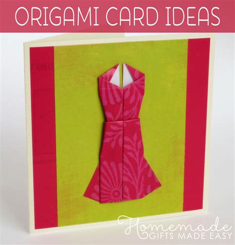 make origami cards origami card to make dress design with