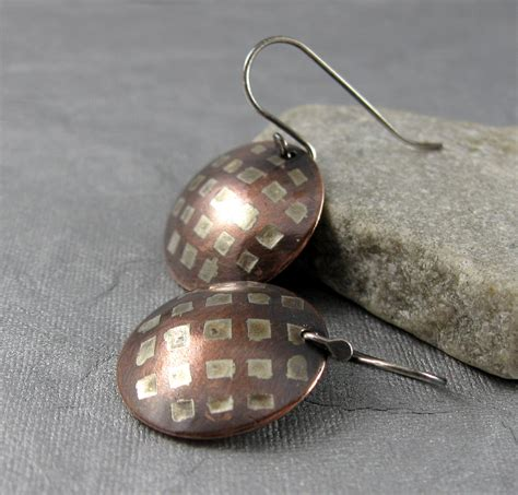 how to solder copper for jewelry week 10 etched solder inlay earrings nancy wickman the