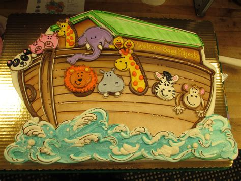 Shower For Babies by Noah S Ark Baby Shower Cutout Cake To Serve Approx 50