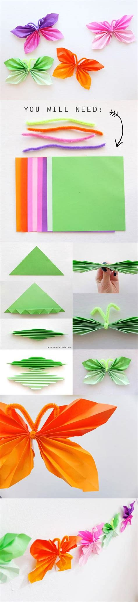 paper butterflies craft easy folded diy paper butterfly beesdiy