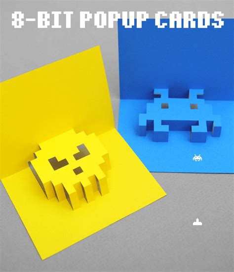 how to make pop up cards 8 bit popup cards minieco