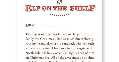 elf on the shelf goodbye letter template serendipity soiree freebie your very own goodbye letter