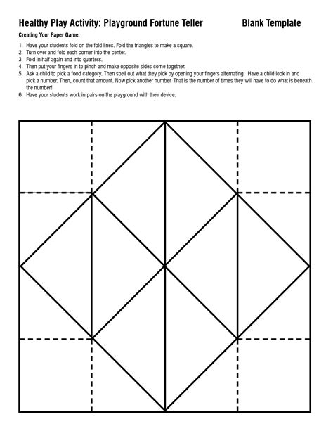 printable origami templates 5 best images of paper fortune teller template printable