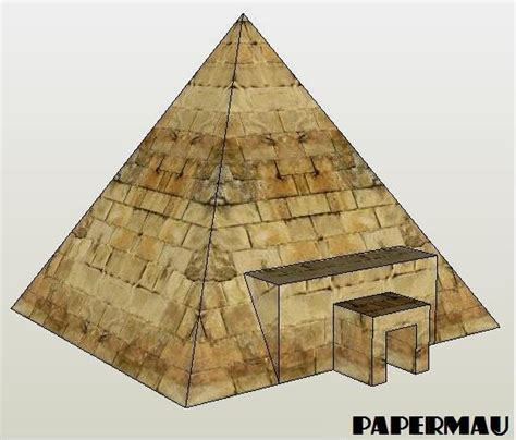 paper pyramid craft simple pyramid free papercraft