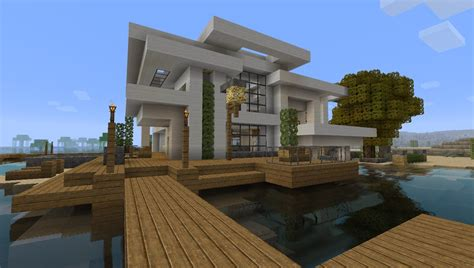 Where To Get House Blueprints modern house 5 beach town project minecraft project