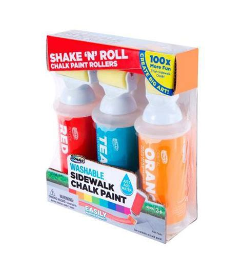 chalk paint joann washable sidewalk chalk paint shake n roll chalk