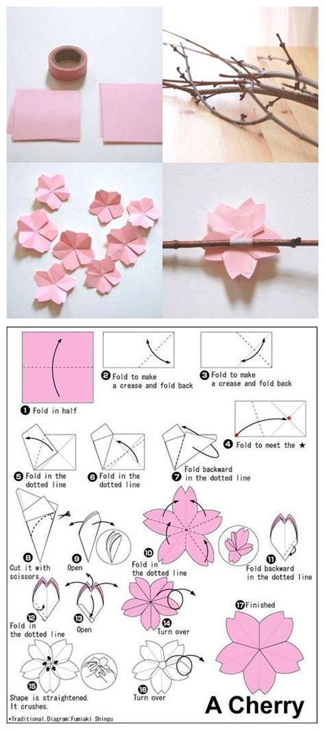 origami cherry blossom origami cherry blossom flower craft ideas