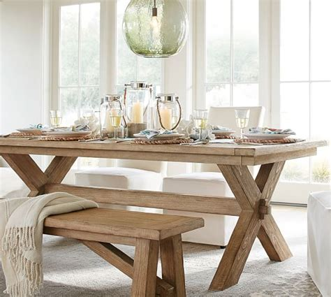 dining room table pottery barn toscana extending dining table bench 3 dining set