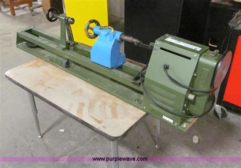 central woodworking central machinery wood lathe no reserve auction on