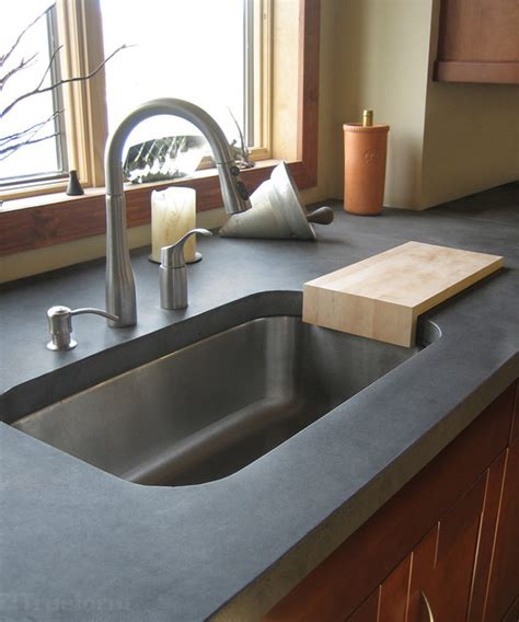 kitchen sink nyc gray concrete kitchen countertop contemporary kitchen