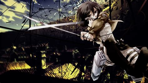 attack on titan free attack on titan mikasa wallpaper wallpapersafari