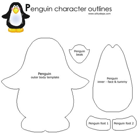 crafts templates penguin craft template crafts classroom
