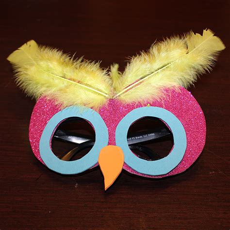 mask craft for make an owl mask family crafts