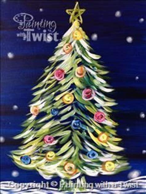 paint with a twist irving original modern tree seasonal by