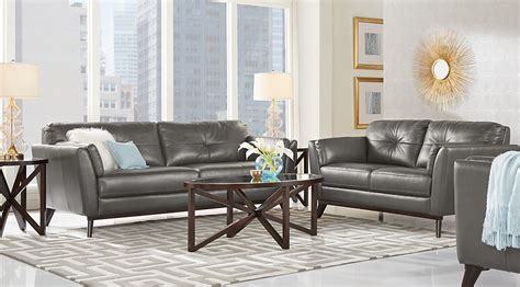 grey leather living room furniture leather living room sets furniture suites gray leather