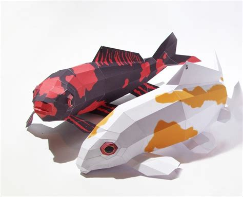 paper craft fish ebook papercraft kit quot koi hi utsuri quot carp pdf fishes