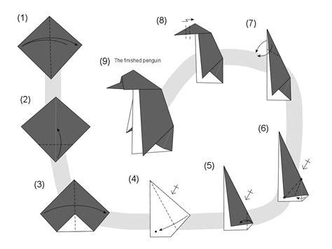 origami penguin folding martin s origami penguin