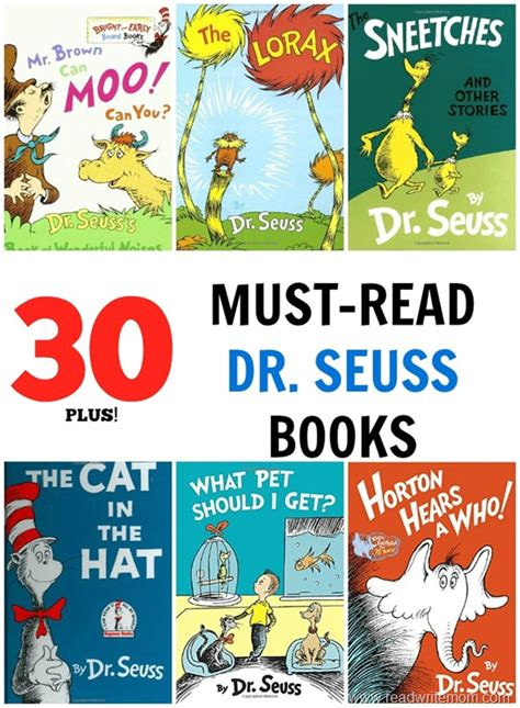 dr seuss books pictures 30 plus must read dr seuss books read write