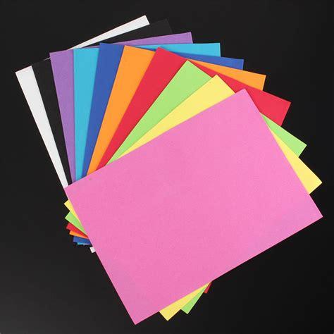 thick craft paper 10pcs thick multicolor sponge foam a4 paper fold