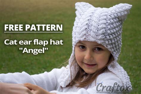 cat ear hat knitting pattern cat ear flap hat quot quot free knitting pattern