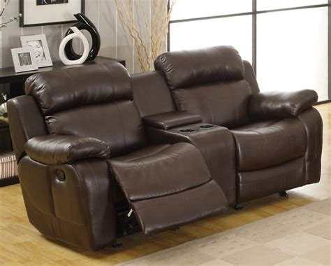 reclining sofa with cup holders leather reclining sofa set with cup holder plushemisphere