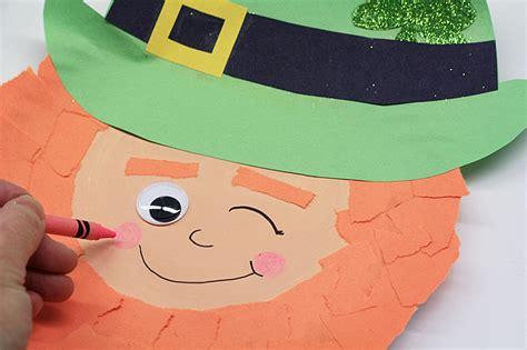 leprechaun craft for winking paper plate leprechaun craft 183 kix cereal