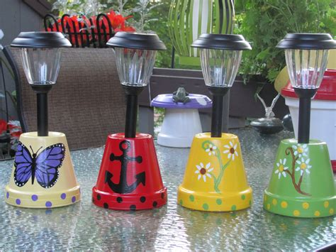 solar light crafts solar light holders made by angela solar lights
