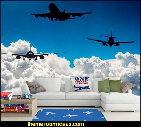 aviation wall murals decorating theme bedrooms maries manor airplane theme