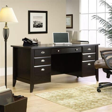 home office wood desk executive desk in jamocha wood 408920