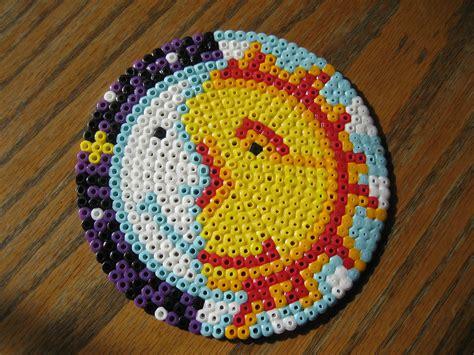 circle perler bead patterns perler sun moon perler bead photos ideas