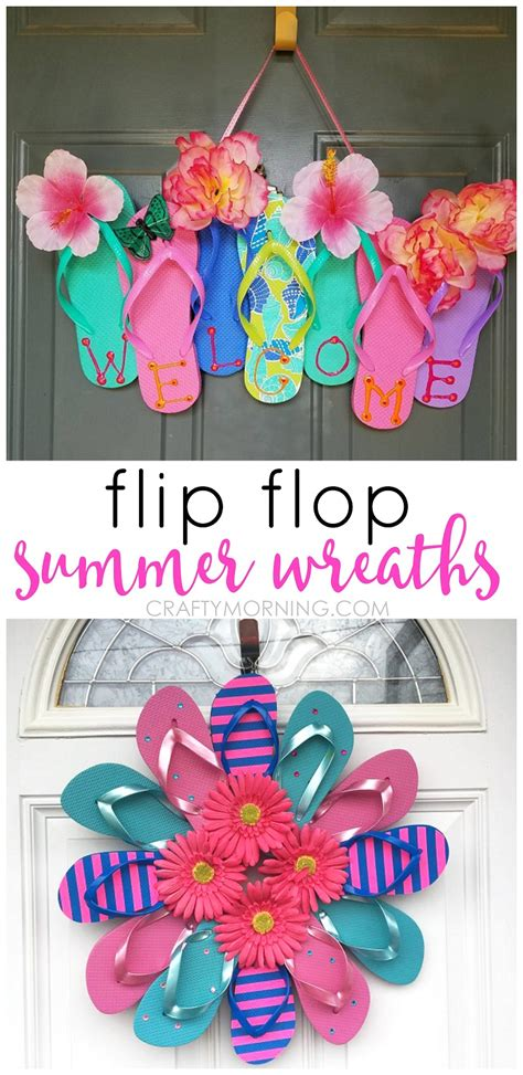 ac craft projects summer flip flop wreaths what a craft to hang on a